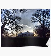December Twilight at Monticello Poster