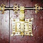 Big Brass Door Lock  by Ethna Gillespie