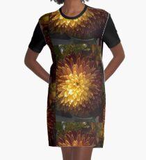 Chrysanthemum Joy Graphic T-Shirt Dress