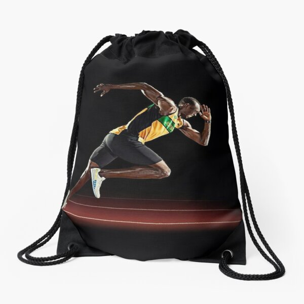 Usain Bolt Drawstring Bag