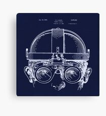 Vintage Welders Goggles blueprint detail drawing Canvas Print