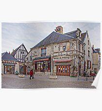 Shops in Villandry, France Poster