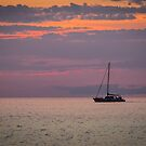 Yacht at Sunset by SteveHphotos