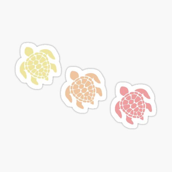 Turtle - Warm Pastel Colors Sticker