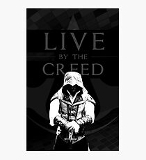 LIVE BY THE CREED - ASSASSIN'S CREED POSTER Photographic Print