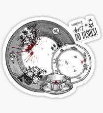 Vampires Don't Do Dishes Sticker