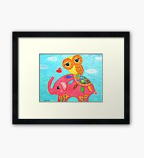 Love Is Like An Elephant Framed Print