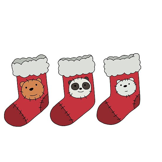 Quot we bare bears christmas stockings posters by