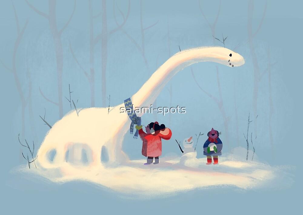 Frozen Dinosaur by salami-spots