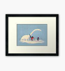 Frozen Dinosaur Framed Print