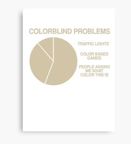 Color blind problems Canvas Print
