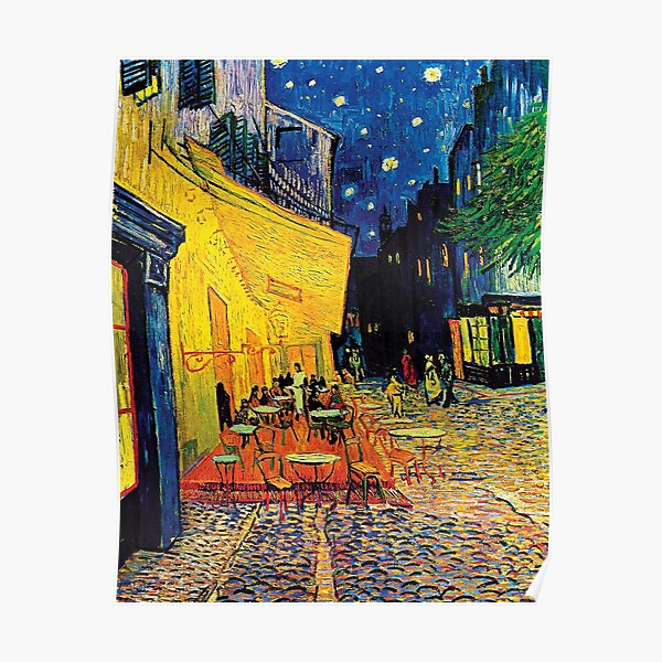 Vincent Van Gogh - Terraza de café en la noche Póster