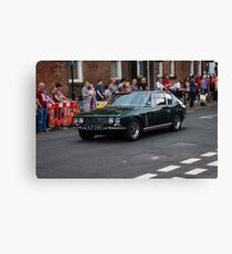 1969 Green Jensen Interceptor  Canvas Print