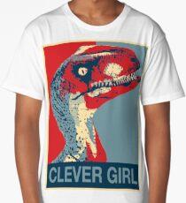 Raptor Propaganda - Clever Girl  Long T-Shirt