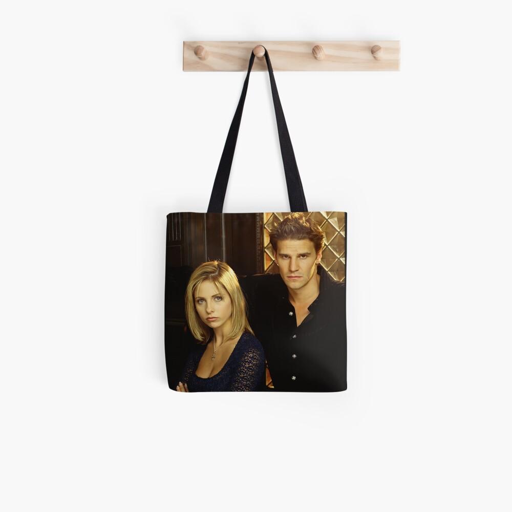 Buffy und Engel Stofftasche
