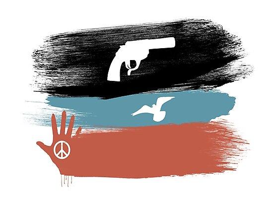 Guns and Peace - T-Shirt by Denis Marsili