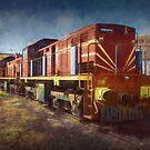 Diesel Locomotive by Stuart Row