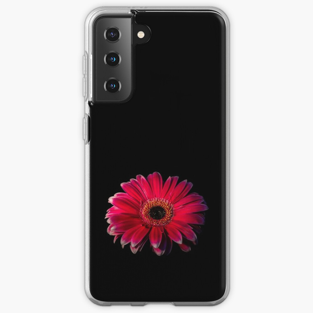 Close up of a red Gerbera Flower Case & Skin for Samsung Galaxy