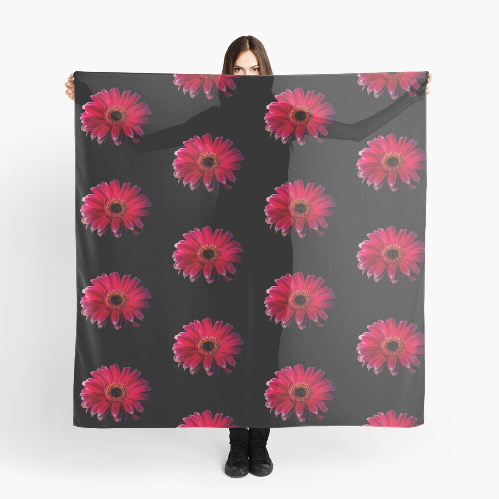 Close up of a red Gerbera Flower Scarf