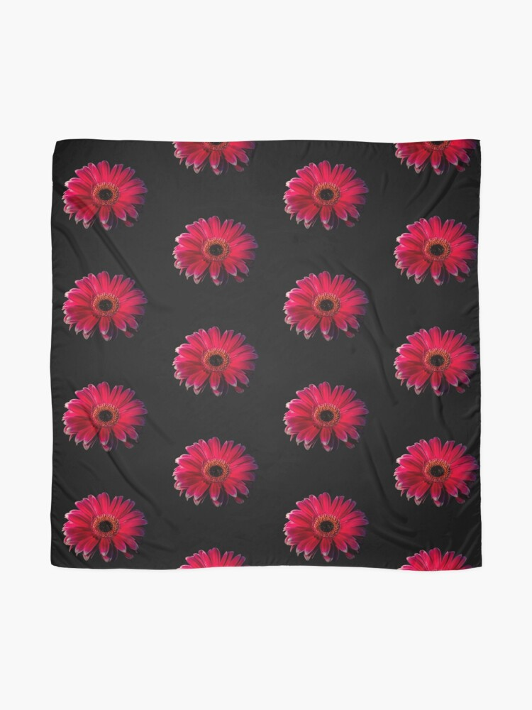 Alternate view of Close up of a red Gerbera Flower Scarf