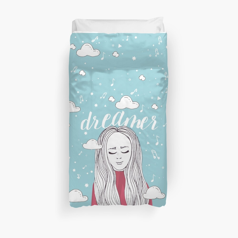 Dreamer Girl - Illustration Duvet Cover