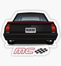 85-86 Black SS Rear Sticker