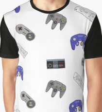 Nintendo Controller Sticker Set Graphic T-Shirt
