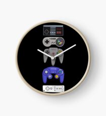 Nintendo Controller Sticker Set Clock