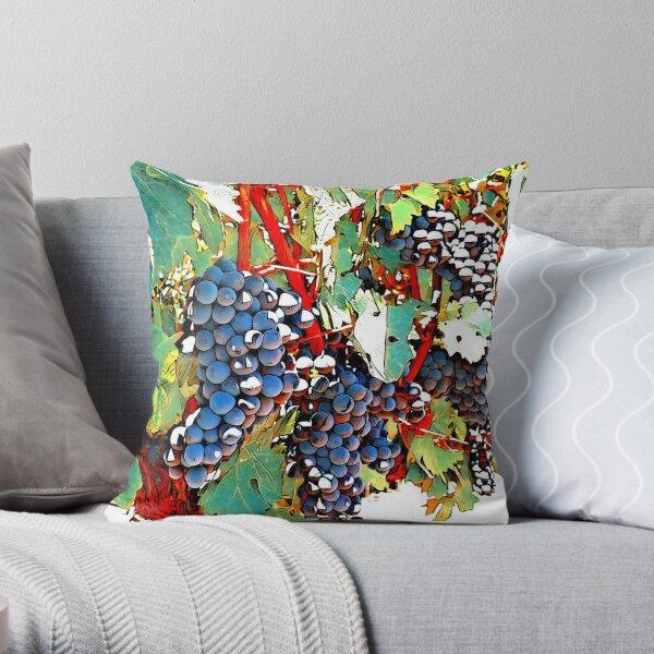 Grapes in Autumn Throw Pillow