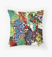 Grapes in Autumn Throw Pillow