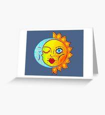 Moon Kisses The Sun AKA Eclipse Greeting Card