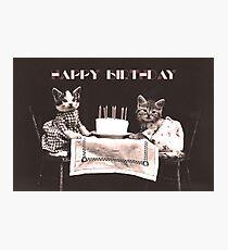 Happy Birthday Kittens Photographic Print
