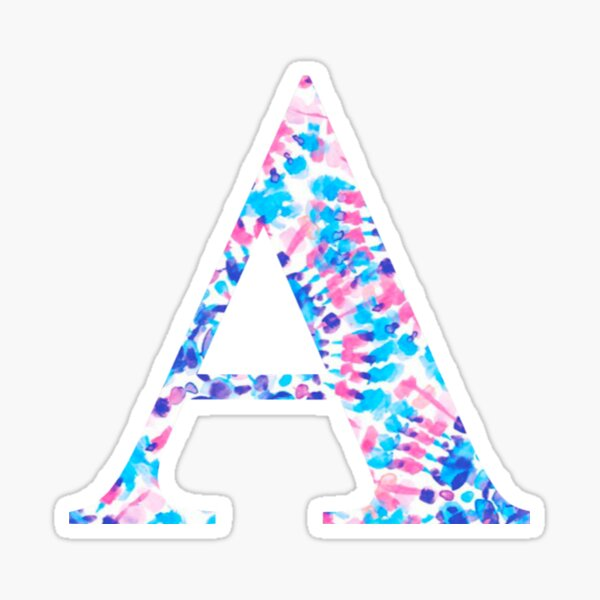 The Letter A Sticker