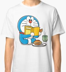 Doraemon Wasting Time, Reading a Book Classic T-Shirt