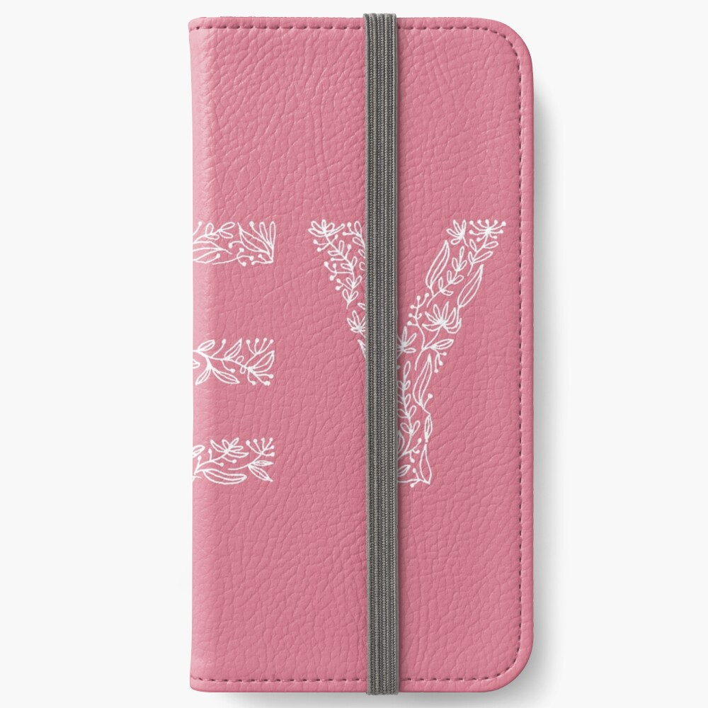 Pink Floral Pattern - Hey iPhone Wallet