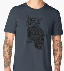 Cute Owl On Tree Men's Premium T-Shirt