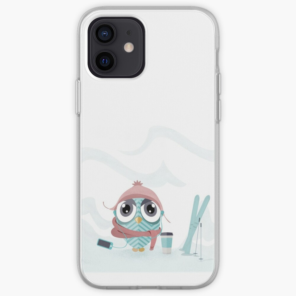 Owl gone skiing iPhone Case & Cover
