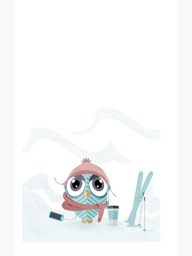 Owl gone skiing by mirunasfia