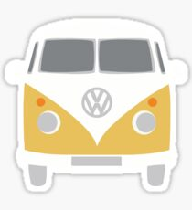 YELLOW VW BUS Sticker