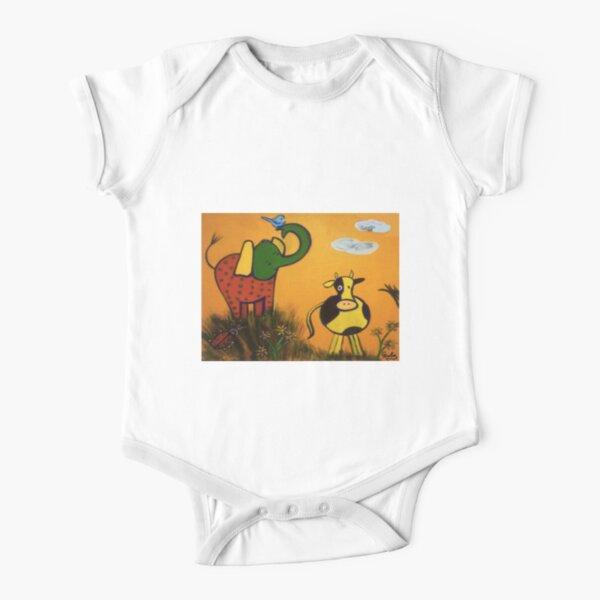 Farm Animals Short Sleeve Baby One-Piece