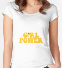 GIRL POWER - Style 2  Women's Fitted Scoop T-Shirt