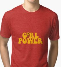 GIRL POWER - Style 2  Tri-blend T-Shirt