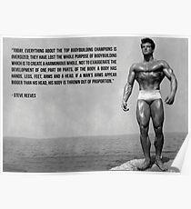 Steve Reeves Bodybuilding Words Poster