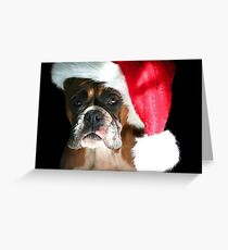 Christmas Boxer dog Greeting Card