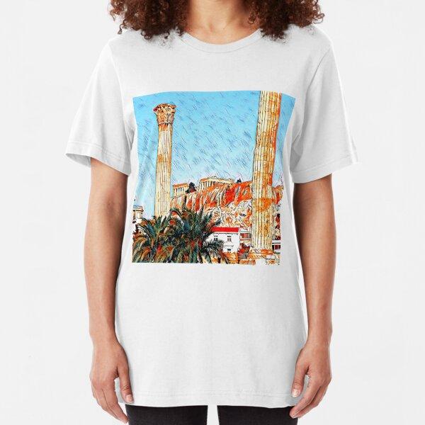 Distant Acropolis Slim Fit T-Shirt