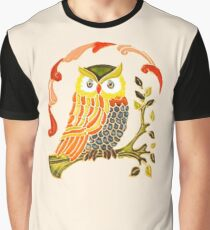 Lovely Cute Owl Graphic T-Shirt