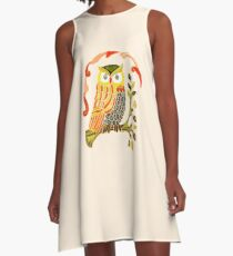 Lovely Cute Owl A-Line Dress