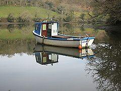 Boat on the Helford  by vanorange