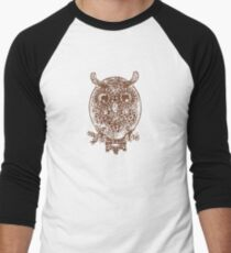 Cute Owl Men's Baseball ¾ T-Shirt
