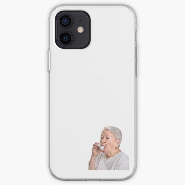 inhaler lady iPhone Soft Case